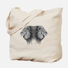 Twin Lion Tote Bag
