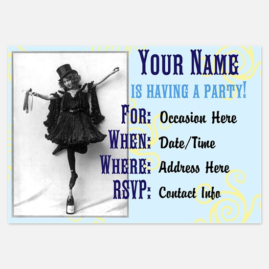 Victorian Party Girl Invitations