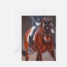 Dressage Intensity Greeting Cards