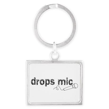 Drops Mic Comedy Landscape Keychain