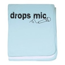 Drops Mic Comedy baby blanket