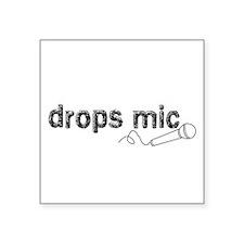 """Drops Mic Comedy Square Sticker 3"""" x 3"""""""