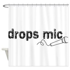 Drops Mic Comedy Shower Curtain