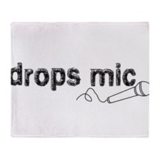 Drops Mic Comedy Throw Blanket