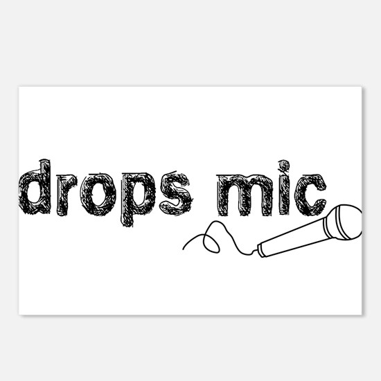 Drops Mic Comedy Postcards (Package of 8)