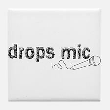 Drops Mic Comedy Tile Coaster
