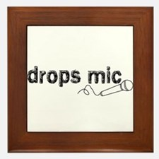 Drops Mic Comedy Framed Tile