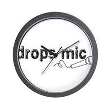 Drops Mic Comedy Wall Clock