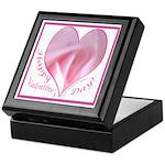 Pink Rose in Heart, Valentine Keepsake Box
