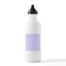 Pastel Purple Giraffe Pattern Water Bottle