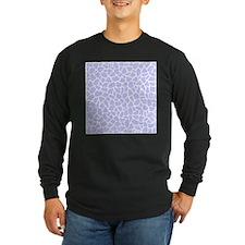 Pastel Purple Giraffe Pattern Long Sleeve T-Shirt