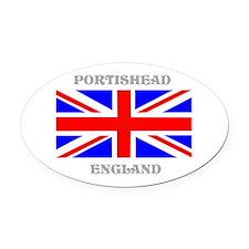 Portishead England Oval Car Magnet