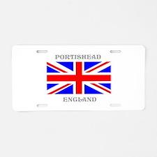Portishead England Aluminum License Plate