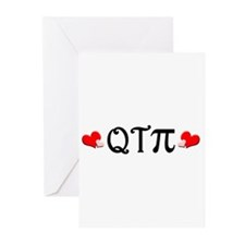 Q-T-Pi (Hearts) Greeting Cards (Pk of 10)