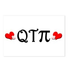 Q-T-Pi (Hearts) Postcards (Package of 8)