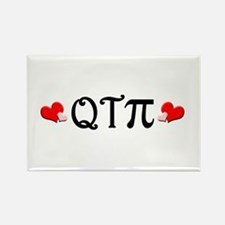 Q-T-Pi (Hearts) Rectangle Magnet