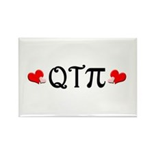 Q-T-Pi (Hearts) Rectangle Magnet (100 pack)