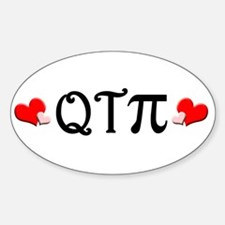 Q-T-Pi (Hearts) Oval Decal