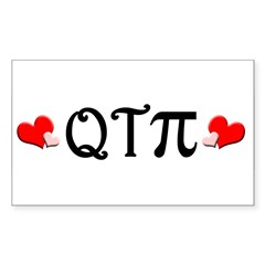 Q-T-Pi (Hearts) Rectangle Decal