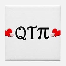 Q-T-Pi (Hearts) Tile Coaster