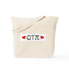 Q-T-Pi (Hearts) Tote Bag