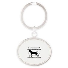 Become Rottweiler mommy designs Oval Keychain