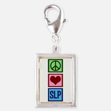 Speech-Language Pathology. Silver Portrait Charm