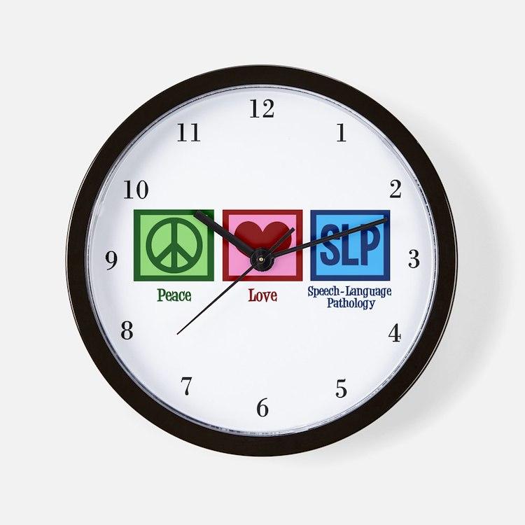 Speech-Language Pathology. Wall Clock
