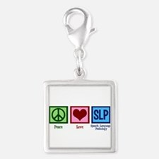 Speech-Language Pathology. Silver Square Charm