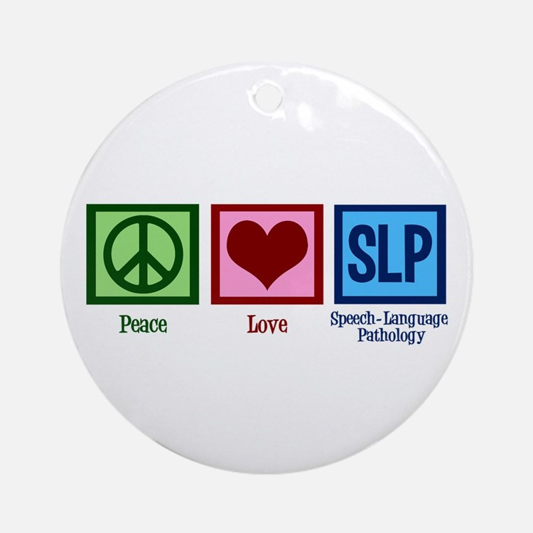 Speech-Language Pathology. Ornament (Round)