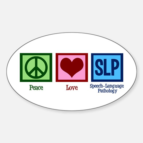 Speech Language Pathology Sticker (Oval)