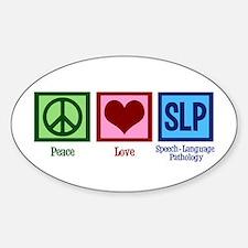 Speech-Language Pathology. Sticker (Oval)