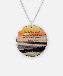 MATTHEW 22:37 Necklace