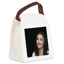 Woman Smiling Canvas Lunch Bag