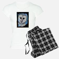 Owl, barn owl, bird art, Pajamas