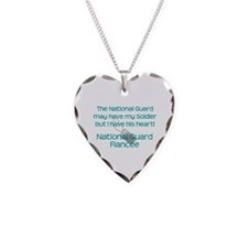 Natinoal Guard Fiancee Heart Necklace