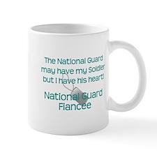 Natinoal Guard Fiancee Heart Mugs
