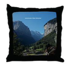 Lauterbrunnen Valley, Switzerland Throw Pillow