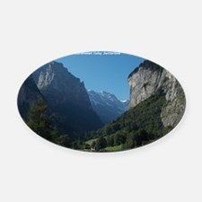 Lauterbrunnen Valley, Switzerland Oval Car Magnet