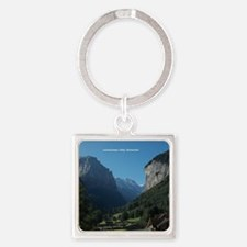 Lauterbrunnen Valley, Switzerland Square Keychain