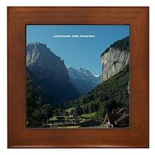 Lauterbrunnen Valley, Switzerland Framed Tile
