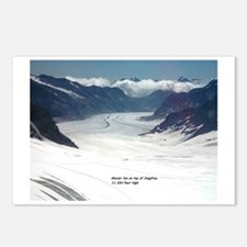 Glacier on top of Jungfra Postcards (Package of 8)