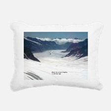 Glacier on top of Jungfr Rectangular Canvas Pillow