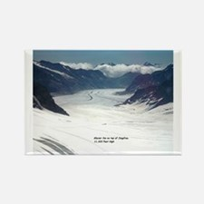Glacier on top of Jungfrau, Switz Rectangle Magnet