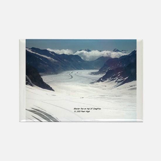 Glacier on top of Jungfrau, Switz Rectangle Magnet