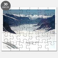 Glacier on top of Jungfrau, Switzerland Puzzle