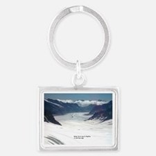 Glacier on top of Jungfrau, Swi Landscape Keychain