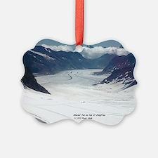 Glacier on top of Jungfrau, Switz Ornament