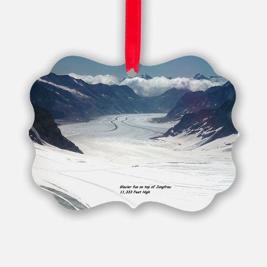 Glacier on top of Jungfrau, Switz Ornament