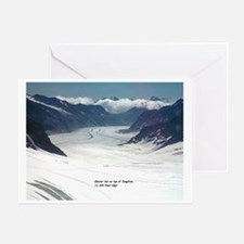 Glacier on top of Jungfrau, Switzerl Greeting Card